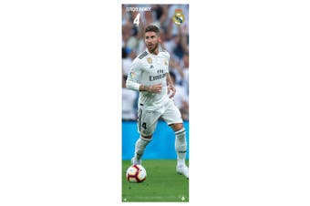 Real Madrid CF Ramos Door Poster (Multicoloured) (One Size)