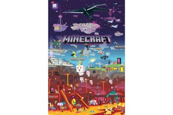 Minecraft World Beyond Poster (Multicoloured) (One Size)