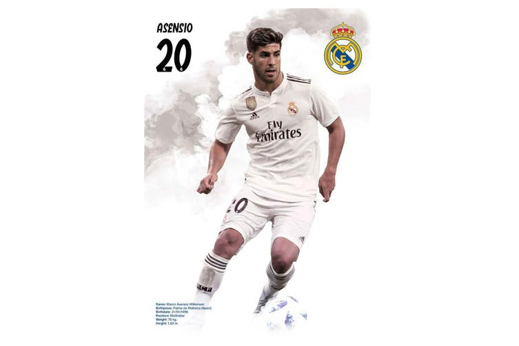 Real Madrid CF Asensio Poster (White) (One Size)