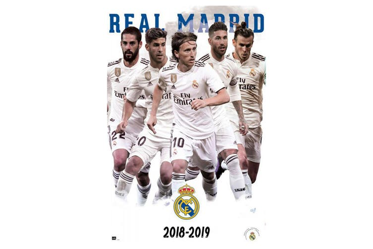 Real Madrid CF Players Poster (White) (One Size)