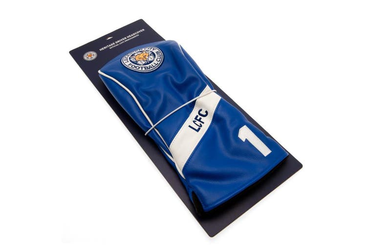 Leicester City FC Official Heritage Driver Headcover (Blue/White) (One Size)