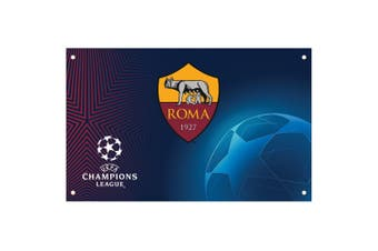 AS Roma Champions League Flag (Multicoloured) (One Size)