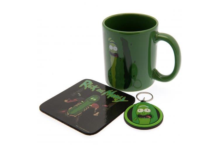 Rick And Morty Mug And Coaster Set (Green) (11oz/315ml)