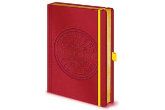 The Beatles Premium Notebook (Red) (One Size)