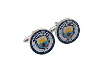 Manchester City FC Cufflinks (Blue/White) (One Size)