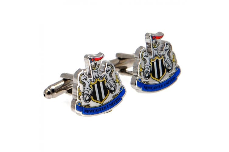 Newcastle United FC Cufflinks (Black/White) (One Size)