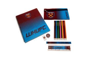 West Ham United FC Official Ultimate Stationery Set (Claret/Blue) (One Size)