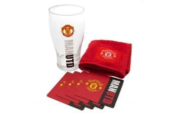 Manchester United FC Official Mini Bar Set (Red) (One Size)