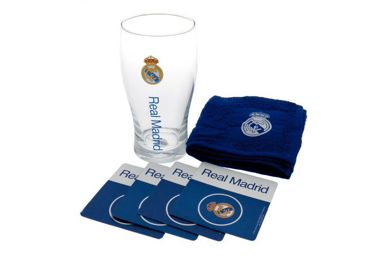 Real Madrid FC Official Mini Bar Set (Blue) (One Size)