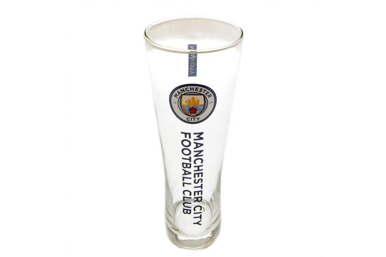 Manchester City FC Official Tall Beer Glass (Blue) (One Size)