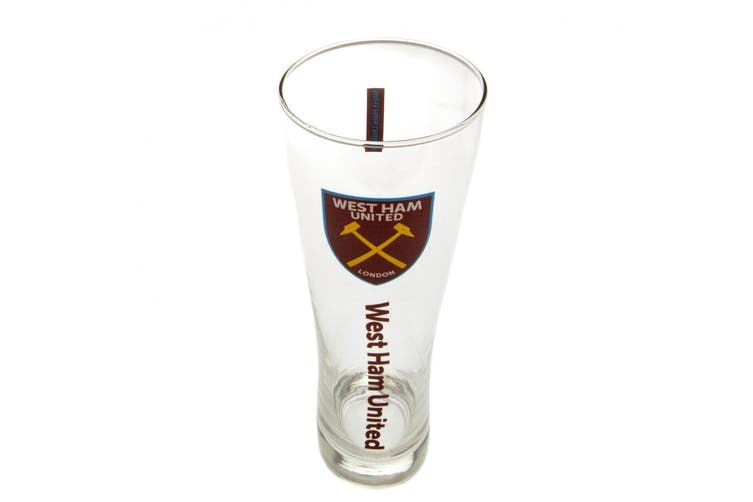 West Ham United FC Official Tall Beer Glass (Claret) (One Size)