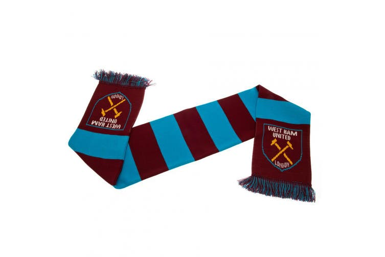 West Ham United FC Bar Scarf (Claret/Blue) (One Size)