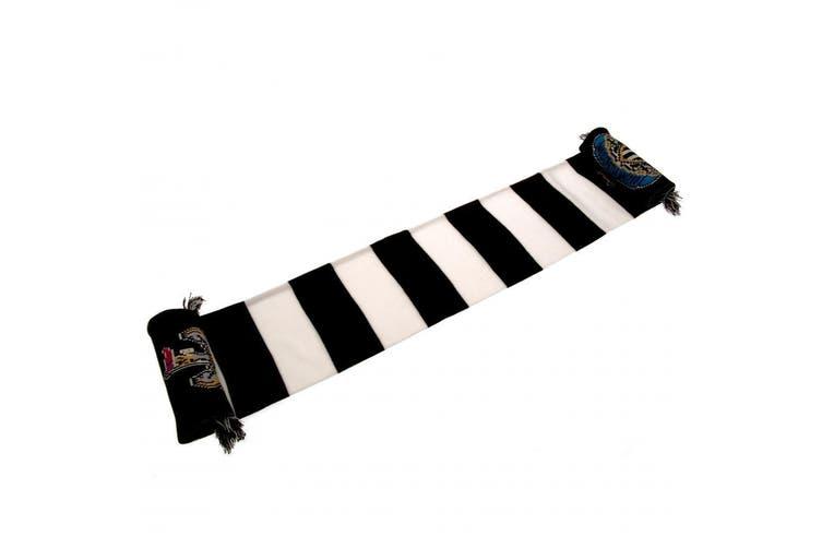 Newcastle United FC Bar Scarf (Black/White) (One Size)