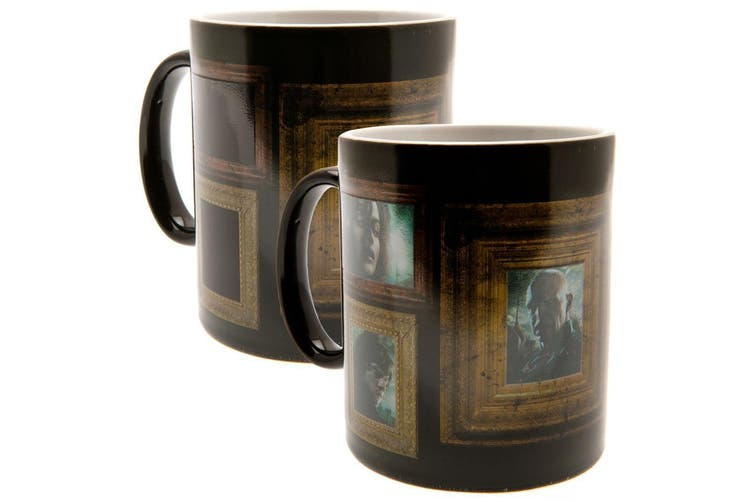 Harry Potter Official Portraits Heat Changing Mug (Black) (One Size)