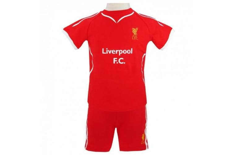Liverpool FC Childrens/Kids 2014/15 T Shirt And Short Set (Red) (6-9 Months)