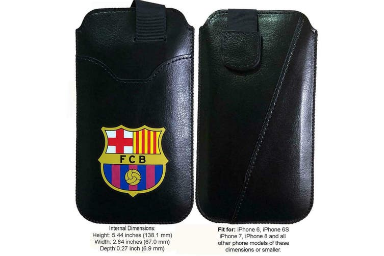 FC Barcelona Small Phone Pouch (Black) (One Size)