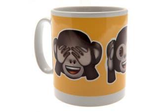 Emoji Official Monkeys Mug (Yellow/Brown) (One Size)