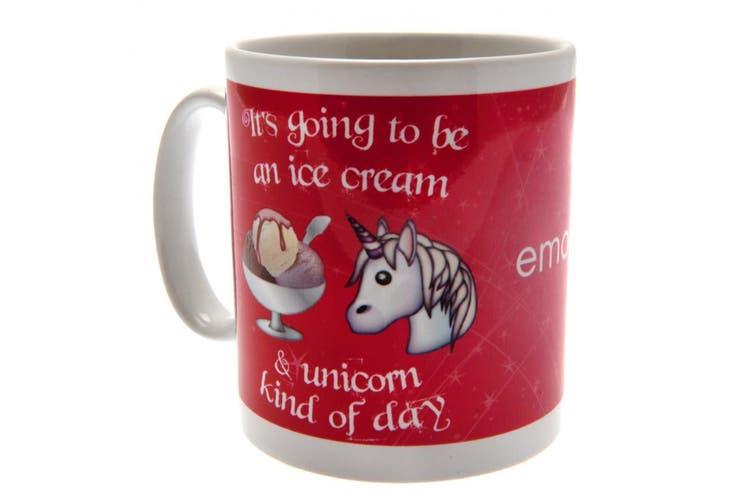 Emoji Official Unicorn Mug (Red/White) (One Size)