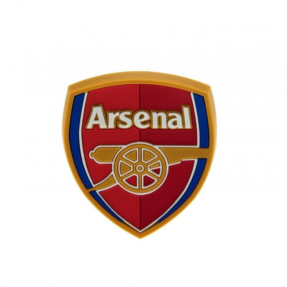 Red Arsenal FC Official Single Rubber Football Crest Wristband One Size