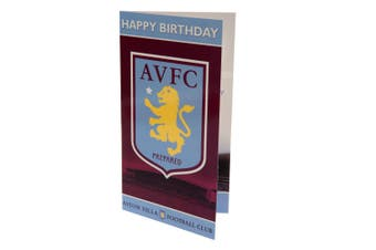 Aston Villa FC Birthday Card (Claret/Blue) (One Size)