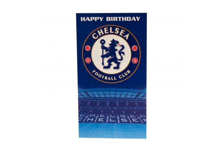 Chelsea FC Birthday Card (Blue) (One Size)