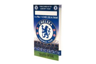 Chelsea FC No 1 Fan Birthday Card (Blue) (One Size)