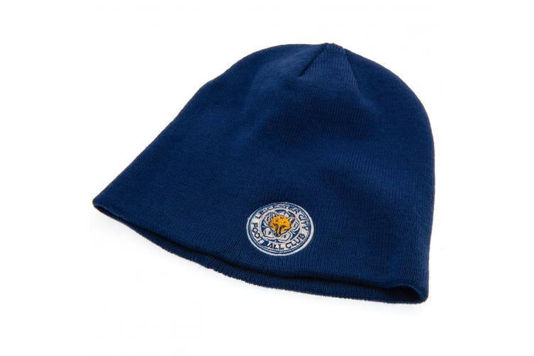 Leicester City FC Unisex 47 Knitted Hat (Blue) (One Size)
