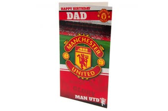 Manchester United FC Dad Birthday Card (Multicolour) (One Size)