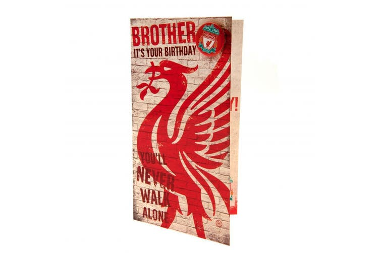Liverpool FC Brother Birthday Card (Red/White) (One Size)