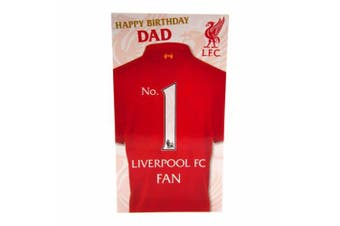 Liverpool FC Dad Birthday Card (Red) (One Size)
