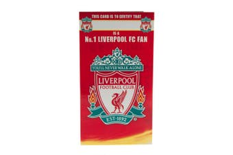 Liverpool FC No 1 Fan Birthday Card (Red) (One Size)