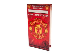Manchester United FC No 1 Fan Birthday Card (Red) (One Size)