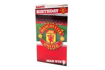 Manchester United FC Stadium Birthday Card (Multicolour) (One Size)