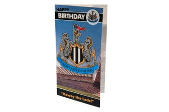 Newcastle United FC Birthday Card And Badge (Multicolour) (One Size)