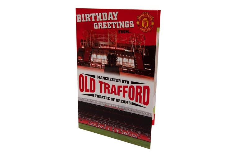 Manchester United FC Pop-Up Birthday Card (Red) (One Size)