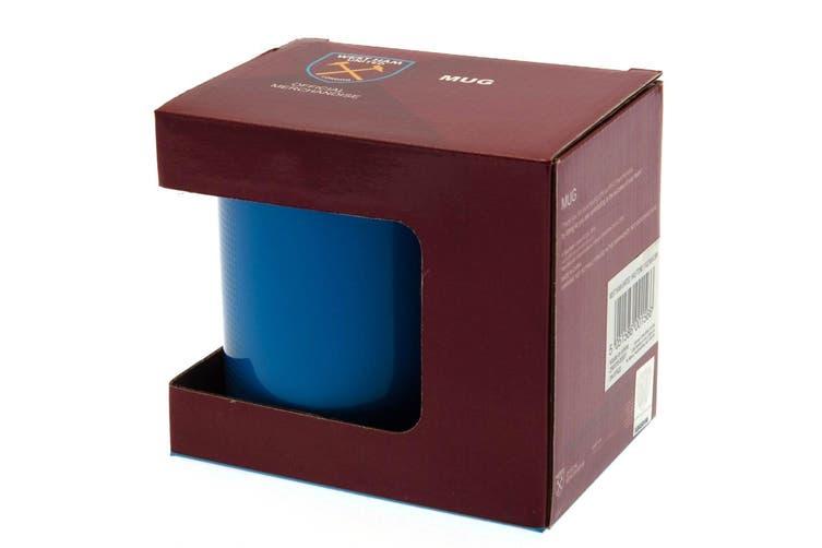 West Ham United FC Large Crest Mug (Claret) (One Size)