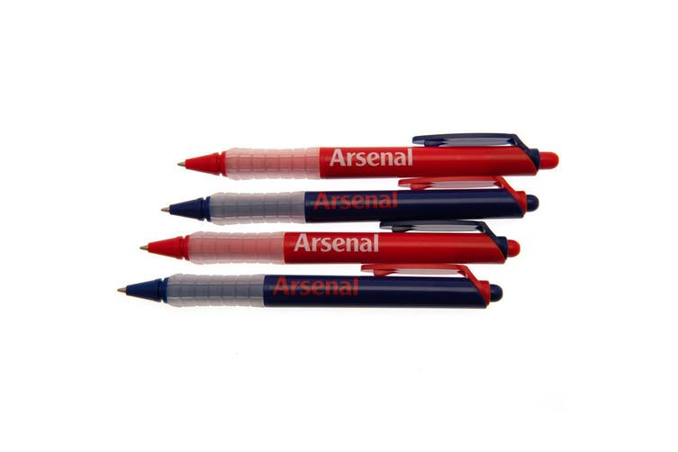 Arsenal FC Pen Set (Pack Of 4) (Red/Blue) (One Size)