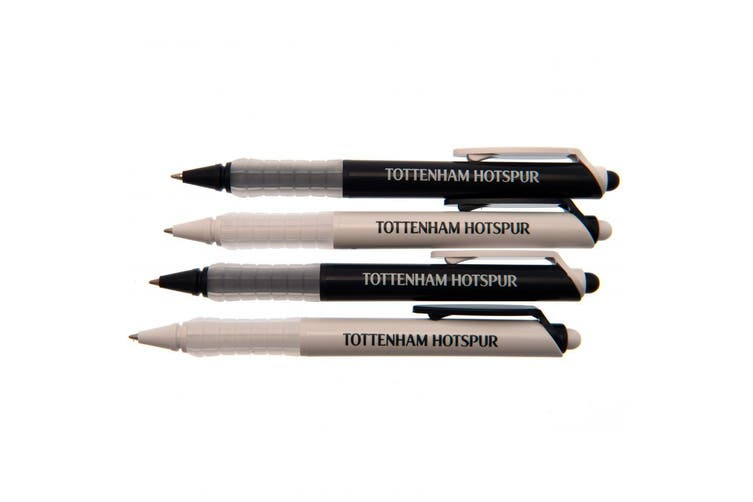 Tottenham Hotspur FC Pen Set (Pack Of 4) (White/Black) (One Size)
