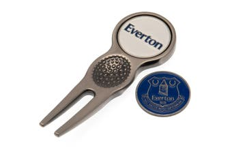 Everton FC Divot Tool And Marker (Silver) (One Size)