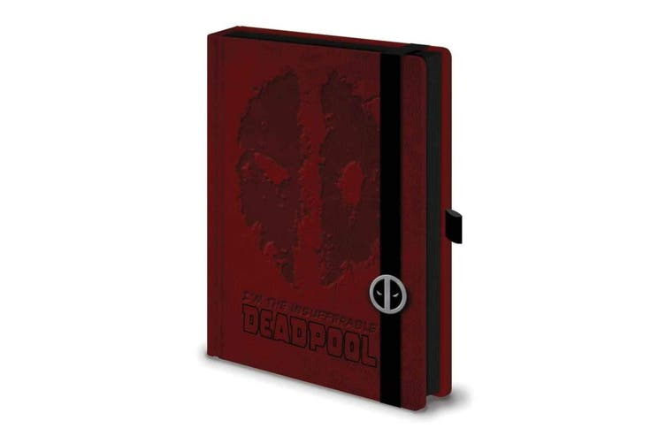 Deadpool Premium Notebook (Red) (One Size)