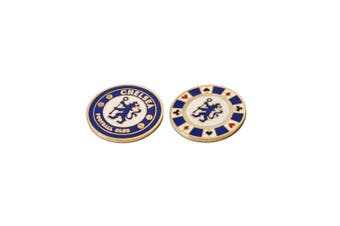 Chelsea FC Casino Chip Ball Marker (Blue) (One Size)