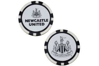 Newcastle United FC Poker Chip Ball Markers (White/Black) (One Size)