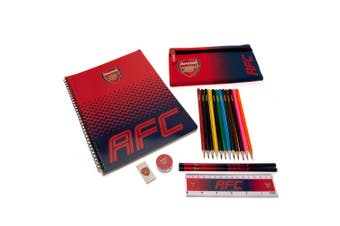 Arsenal FC Ultimate Stationery Set (Red) (One Size)