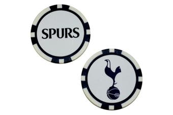 Tottenham Hotspur FC Poker Chip Ball Markers (White/Navy) (One Size)