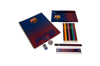 FC Barcelona Ultimate Stationery Set (Red/Blue) (One Size)