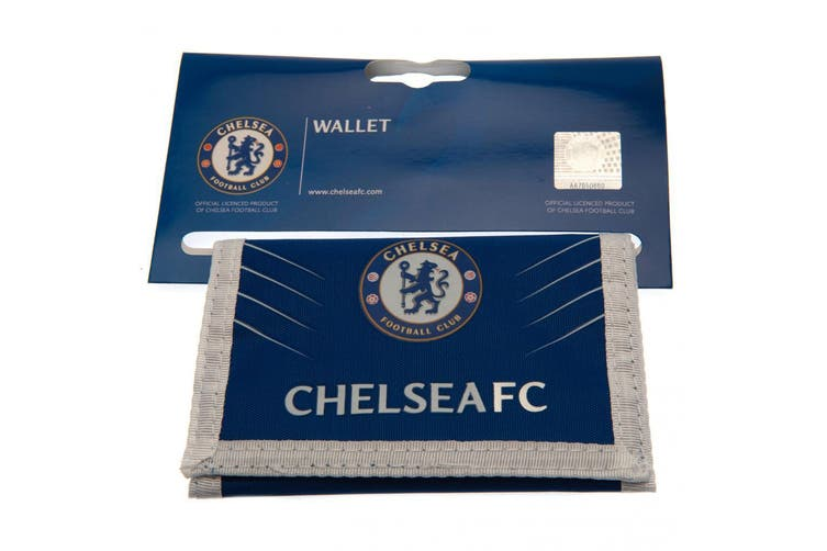 Chelsea FC Touch Fastening Nylon Wallet SP (Blue/White) (One Size)