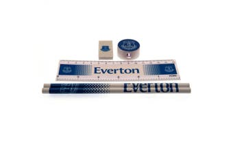 Everton FC Core Fade Stationery Set (White/Blue) (One Size)