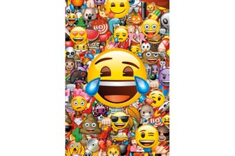 Emoji Collage Poster (Multicoloured) (One Size)