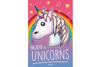 Emoji Unicorn Poster (Multicoloured) (One Size)