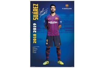FC Barcelona Suarez 30 Poster (Multicoloured) (One Size)